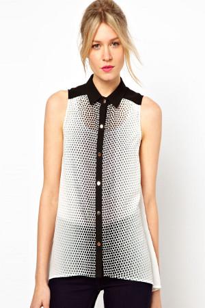 летние блузы из шифона, фото